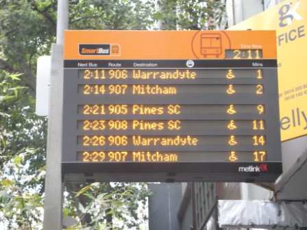 Rea-time tracking of bus routes and information display for users. It is a well established useful solution in different cities