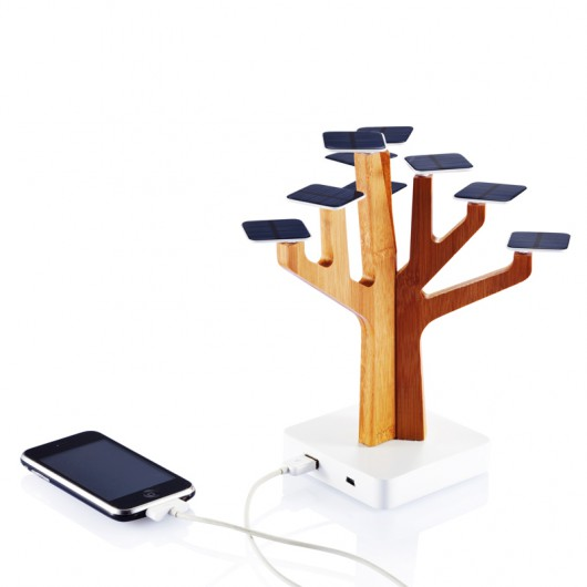 a designed solar panel cellphone charger .