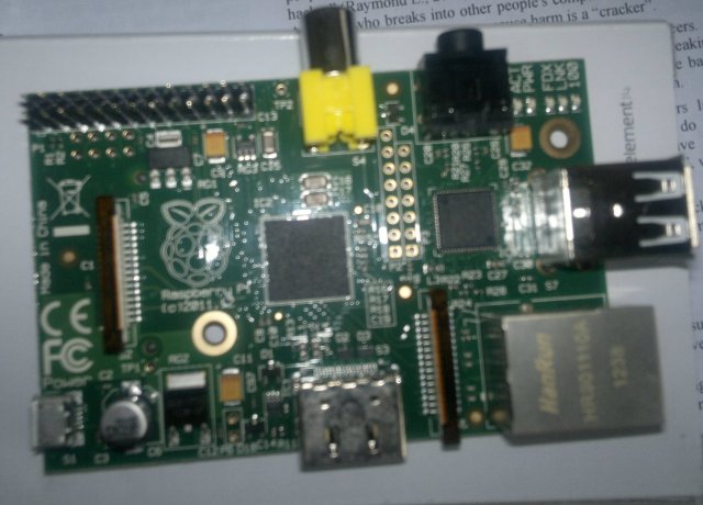 Raspberry pi model b- A great way to use low cost computing for educational purposes