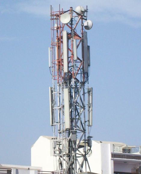 Mobile tower in my city (Dhaka).