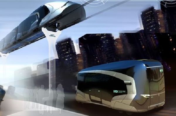 biway- all electric buses combine to form a train