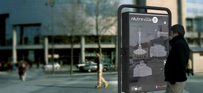 Mobilier urbain intelligent. Paris. Project nAutreville.