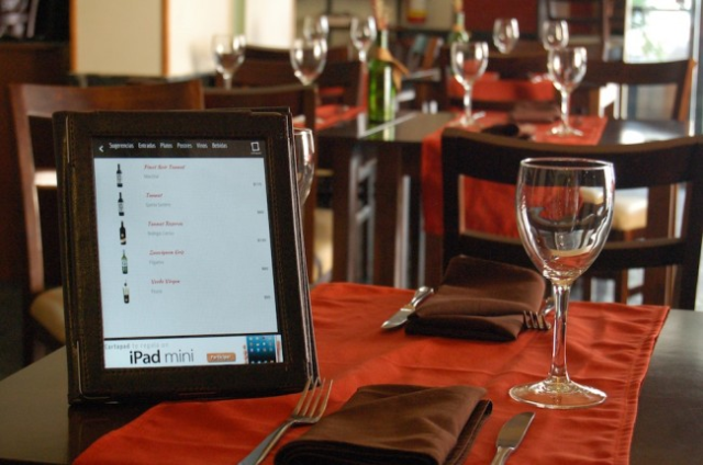 Cartapad. For iPad. Instead of normal menu, restaurants of Montevideo have an iPad per table with a interactive menu. The best techmeal.
