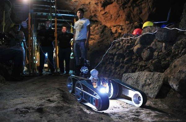 Let me introduce you Tláloc II-TC. This a robot that the National Institute of Anthropology and History in Mexico created to explore tunnels