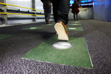 Energy from footsteps | West Ham Tube, London Olympics 2012 (source: Pavegen)