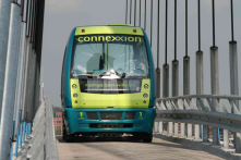 Rivium is an automated Group Rapid Transit system, with an exclusive right-of-way,  for 6 to 30 passengers per vehicle.
