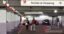 iParking is used in Malls. It shows with green led lights the free places and with red if a car is there. Shows free places on big screen.