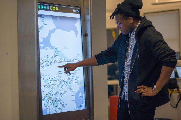 NY is rolling out touch screens across the subway system that will let you map routes super easily. Preatty neat.