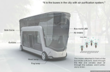 An urban bus that purifies the air