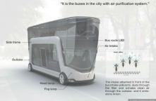 An urban bus that purifies the air
