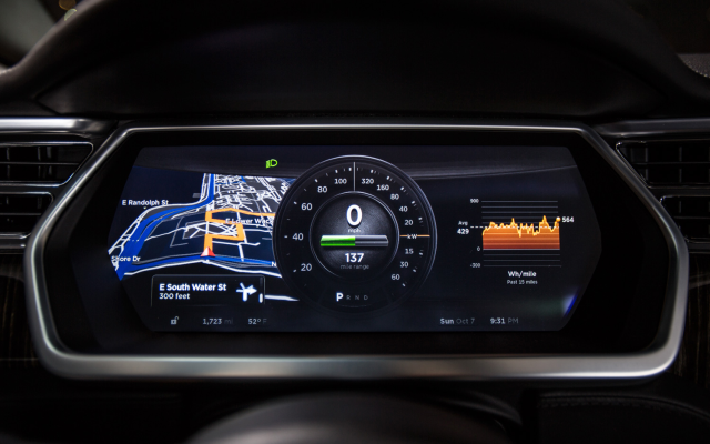 The Tesla Model S indication panel. Awesome.