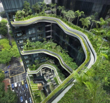 Amazing landscape architecture with technology