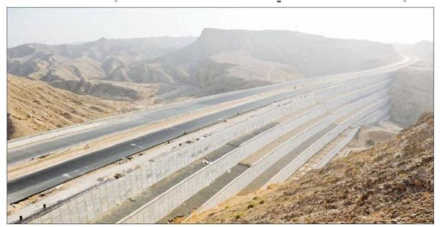 Muscat expressway earth wall, Oman