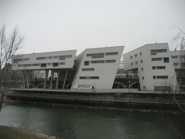 Office and dormitory building of University of Economics in Vienna, Austria