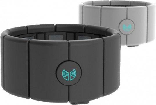 The Myo, an armband that uses the body's natural movements to manipulate electronics.