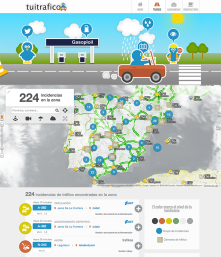"""Through open data + Twitter, we provide real time traffic information in Spain, updated prices on +8000 gas stations.. http://tuitrafico.co<wbr/><span class=""""wbr""""></span>m"""