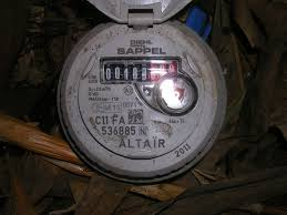 A common use of pressure sensors in a water meter.