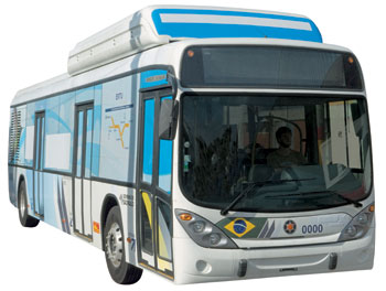 Hydrogen fuel cell powered bus in Sao Paulo Metropolitan Area. The aim is to produce it entirely in Brazil. http://goo.gl/WwZFl
