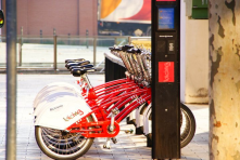 Bicing as 'Bicycle sharing system' in Barcelona With Smart installed system you can see available bikes in each and pick it up easily!