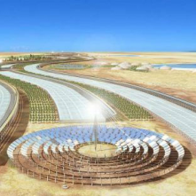 Solar panels in the Sahara great investment that would enable a large amount of energy to the cultivation of crops that could feed the whole