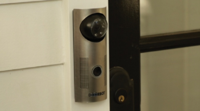 http://www.ohgizmo.com/2012/12/10/doorbot-shows-you-whos-at-the-door-and-lets-you-tell-them-to-buzz-off-if-theyre-unwanted/