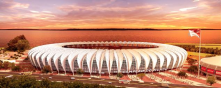 The new coverage of Beira-Rio Stadium, of SC Internacional (Porto Alegre, Brazil), will collect rain water to use in grass irrigation.