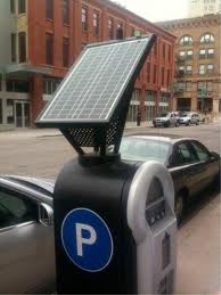 New Parking Meters using Solar Panels.
