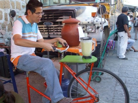 A Cycle Powered Juice Maker