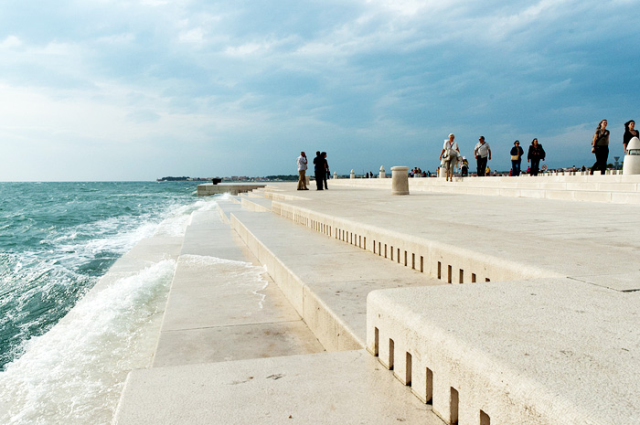The Sea organ is an architectural object located in Croatia and an experimental musical instrument which plays music by way of sea waves.
