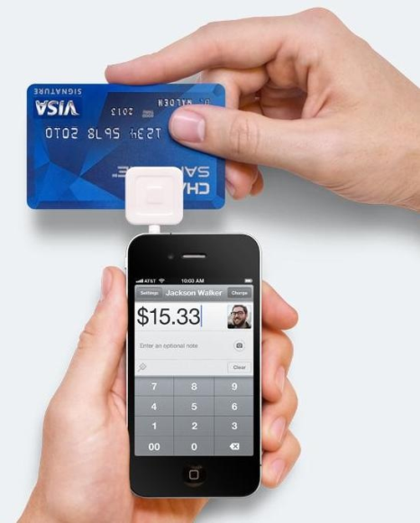 Square credit card terminal for iPhone