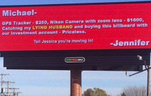 Electronic billboard being used. This isn't photo-shopped, it is an actual billboard.