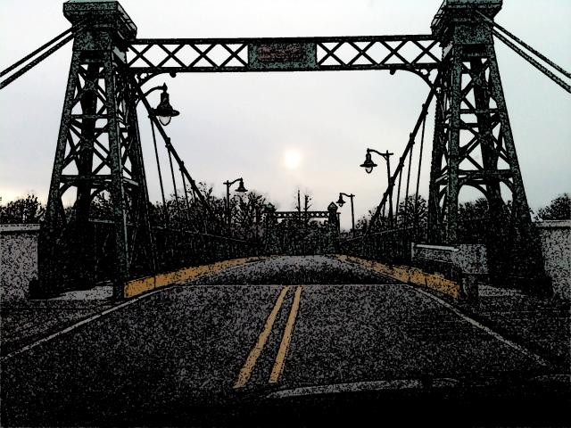 Bridge in Riegelsville, PA.