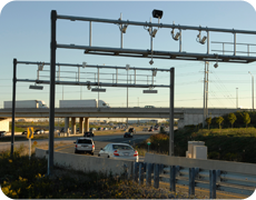 407 ETR Highway. An advanced electronic toll highway in Ontario that uses sensors and cameras.