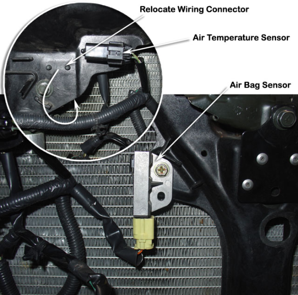 Sensors inside a car..