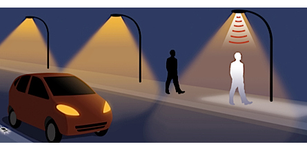New sensitive lights, not in my own city, but in Toulouse, another french city. Image from InnovCity website : http://www.innovcity.com