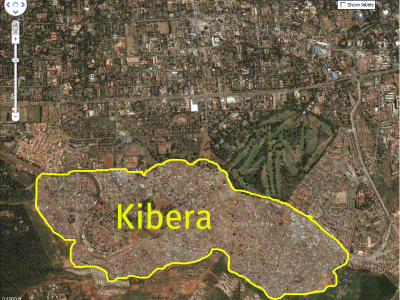 Map Kibera (Nairobi)