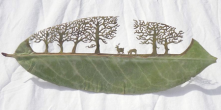 Cut-away Leaf Art