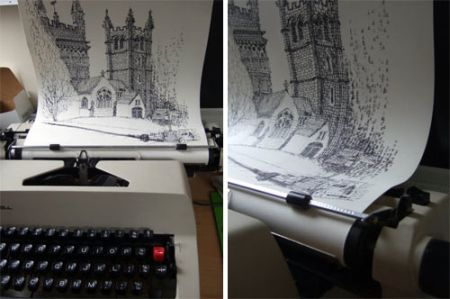 Paintings With Typewriter