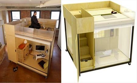 Open Cube Inside A Loft