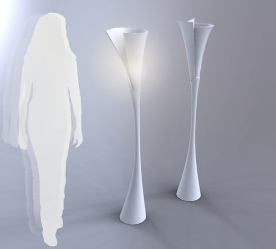 Calla lamp, activated by presence sensor