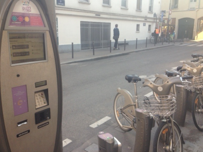 Shared bicyle with RFID in Paris