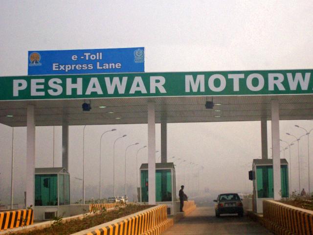 Electronic toll Plaza at Peshawar Motorway Pakistan