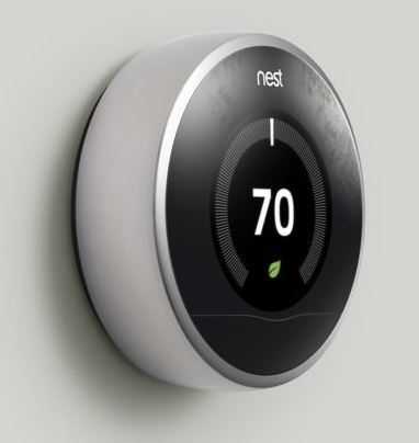 Nest is a learning home thermostat that learns/senses when you are home and the heating needs of your house based on outside temperature.