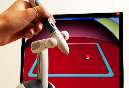 sensory haptic pointer for surgery