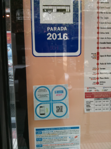 NFC chip to check remaining time for public bus arrival.