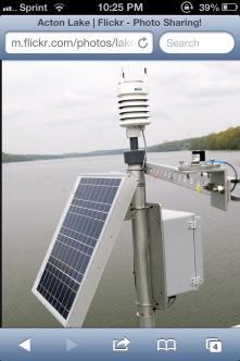 This here is a weather sensor which measures wind speed and direction, liquid precipitation, barometric pressure, temperature, etc.