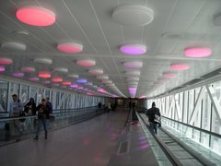 Motion activated lights create fun interactive light show in Indianapolis Terminal
