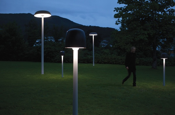 Motion activated landscape lights. Saves electricity for when it's needed.