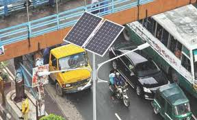 Solar technology used in roads of Dhaka