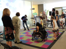 @ Holland Bloorview - interactive waiting room has a pressure sensitive floor and an interactive video environment for children to play